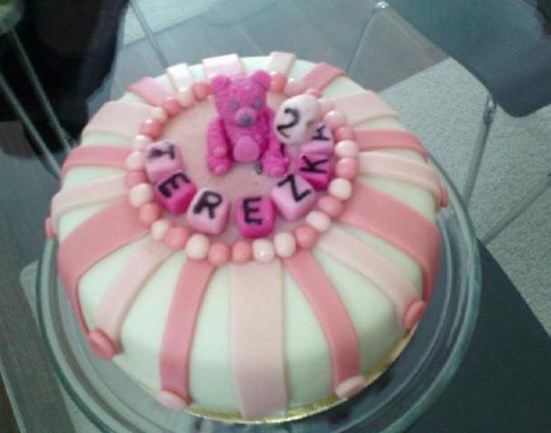 Terezka 2 roky – dort