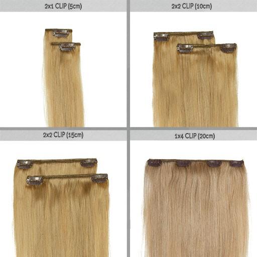 Clip in vlasy OxY Extensions vám dodají chybějící délk